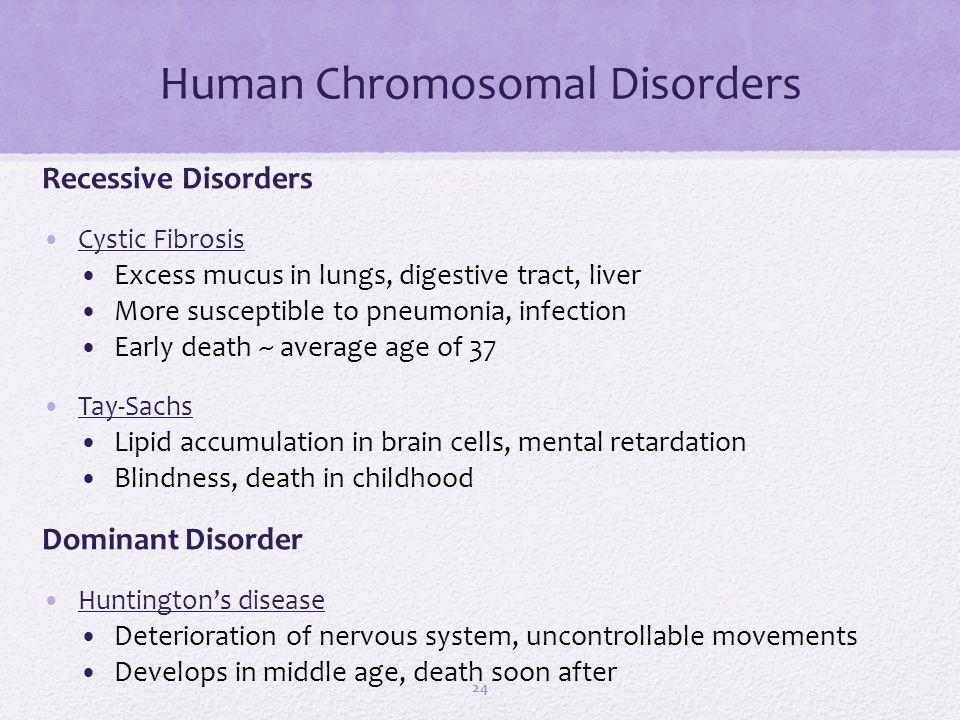 Human Chromosomal Disorders