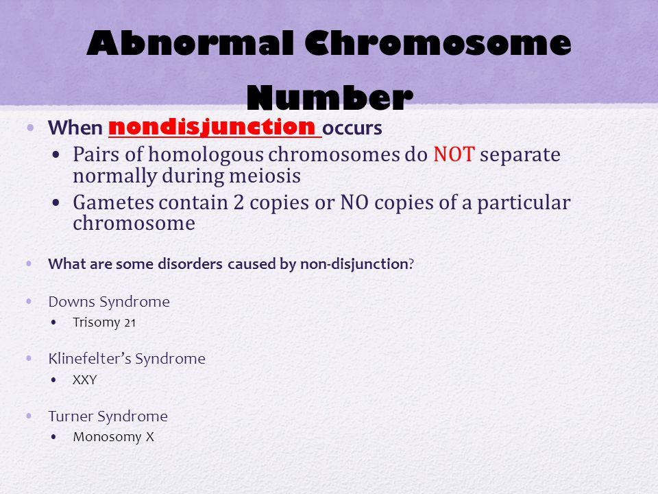 Abnormal Chromosome Number