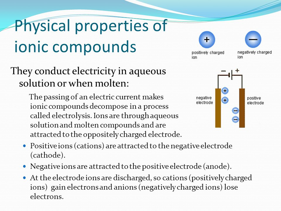Physical properties of ionic compounds