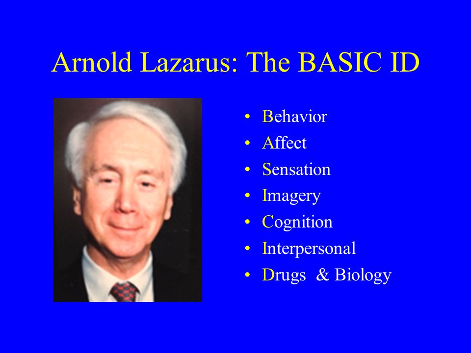 Arnold Lazarus: The BASIC ID