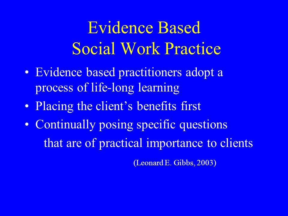 Evidence Based Social Work Practice
