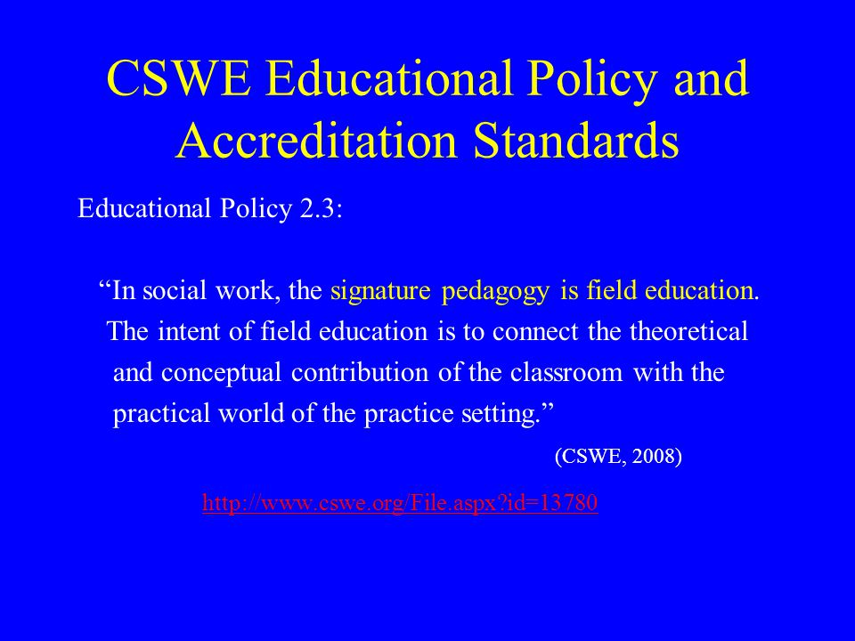 CSWE Educational Policy and Accreditation Standards