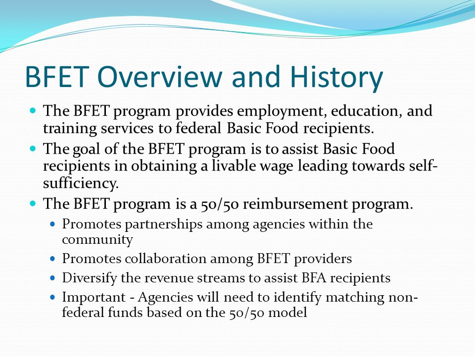 BFET Overview and History