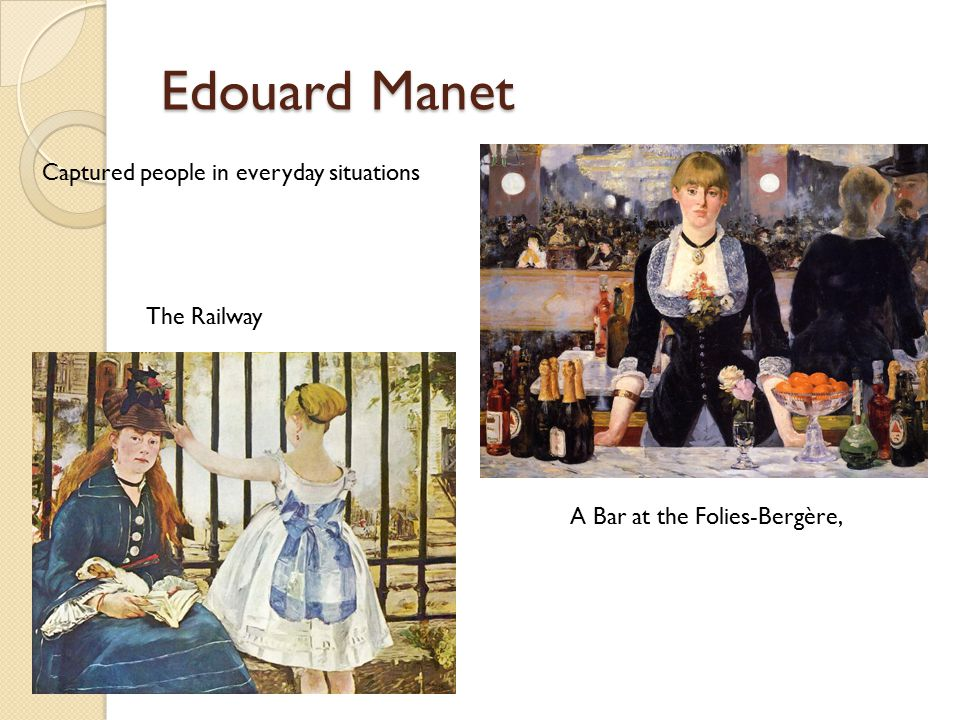 Edouard Manet Captured people in everyday situations The Railway