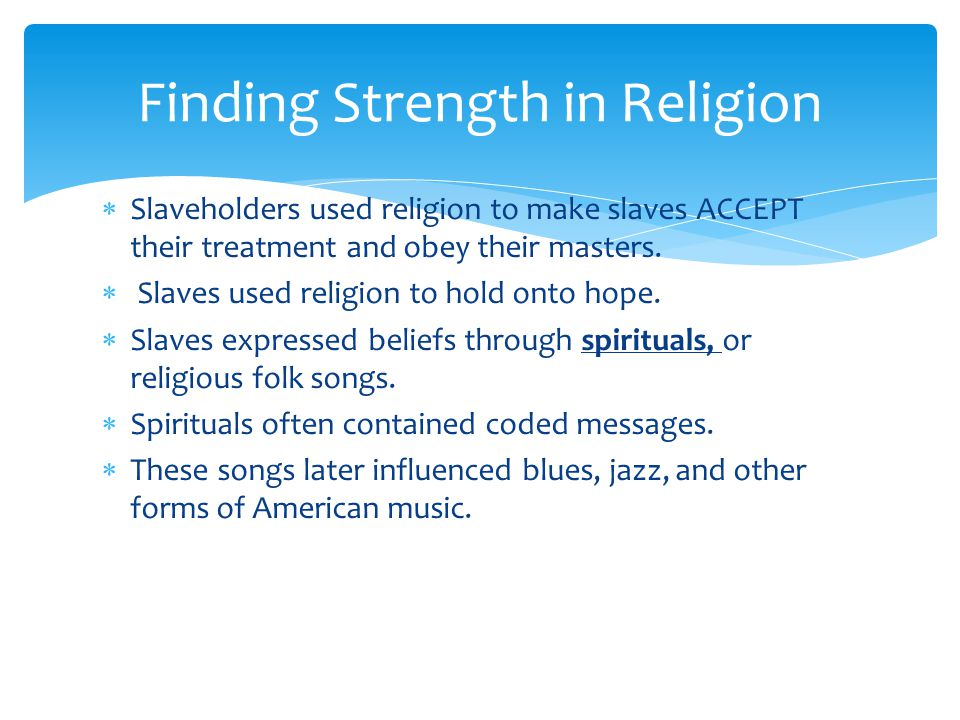 Finding Strength in Religion