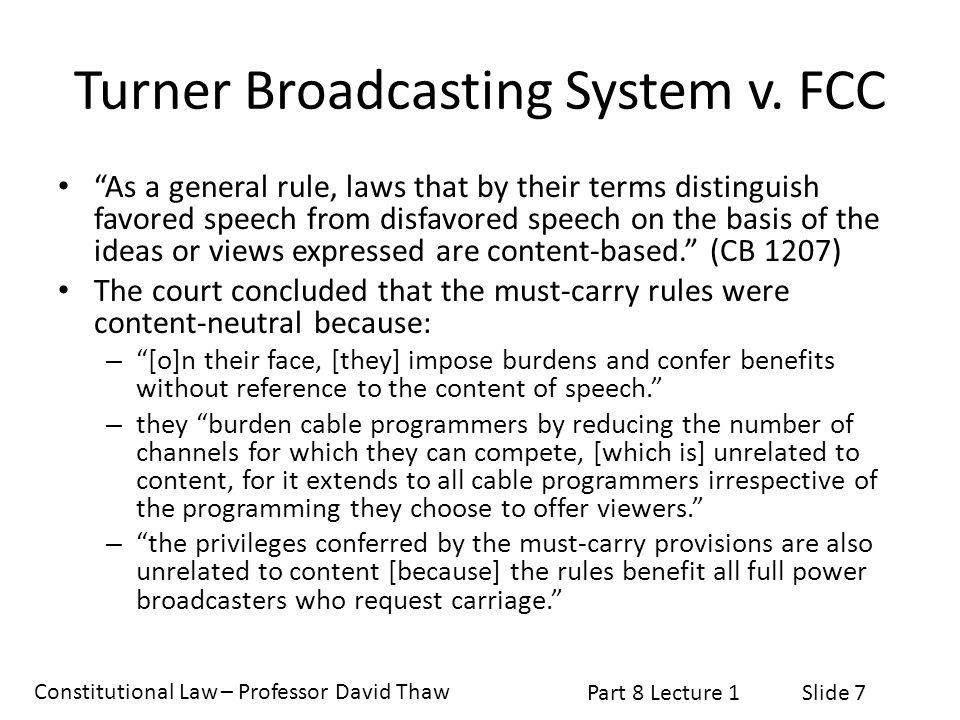 Turner Broadcasting System v. FCC