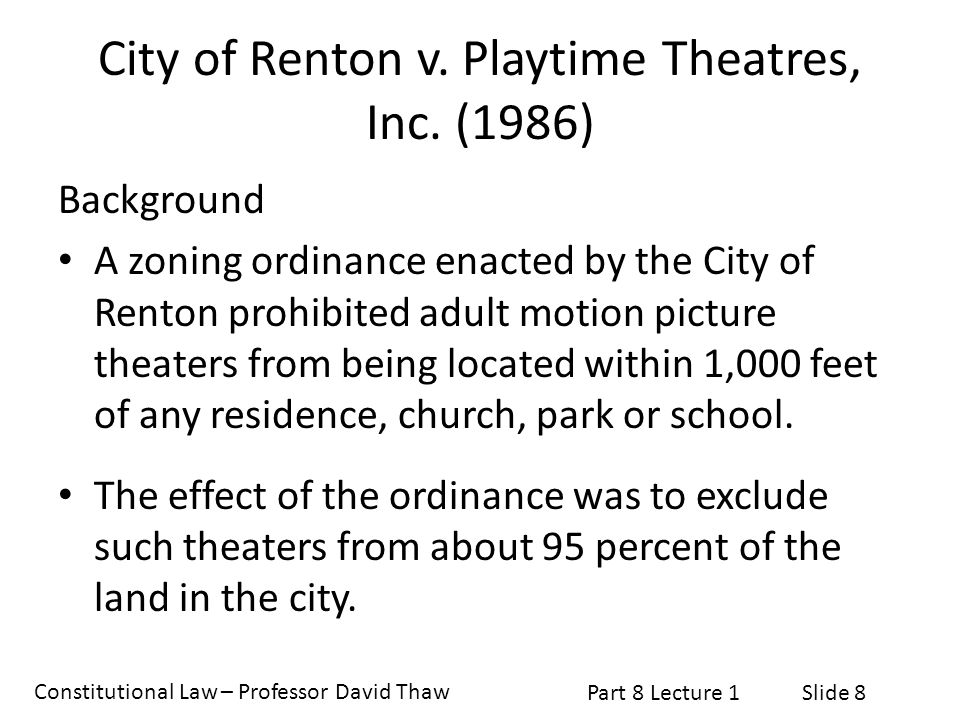 City of Renton v. Playtime Theatres, Inc. (1986)