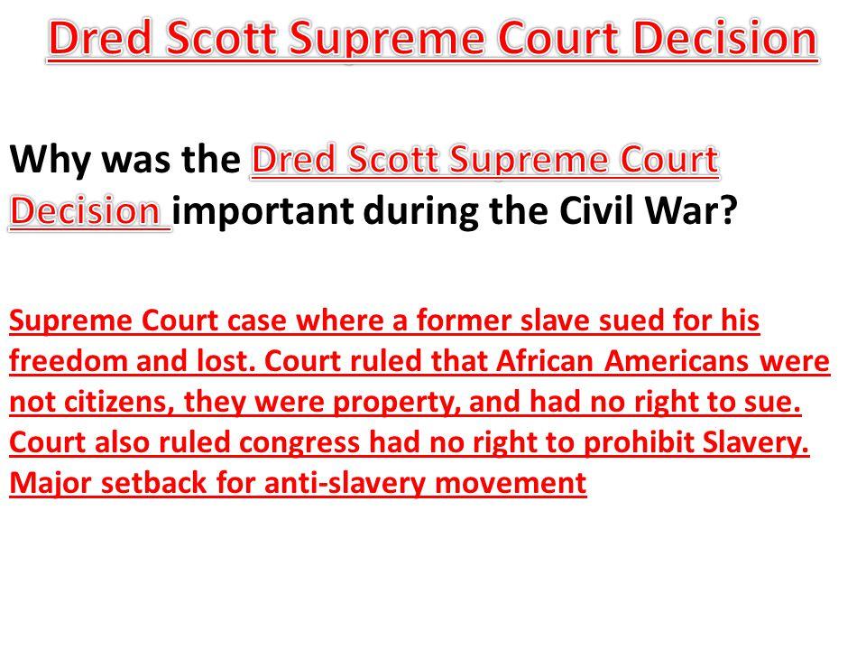 Dred Scott Supreme Court Decision