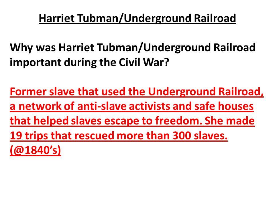 Harriet Tubman/Underground Railroad