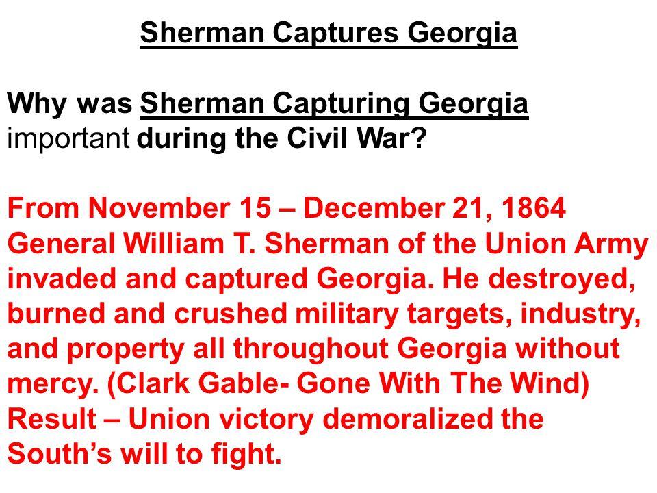 Sherman Captures Georgia