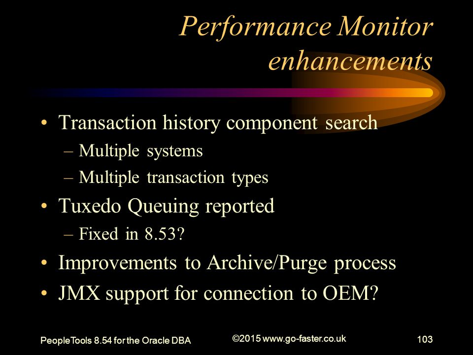 Performance Monitor enhancements