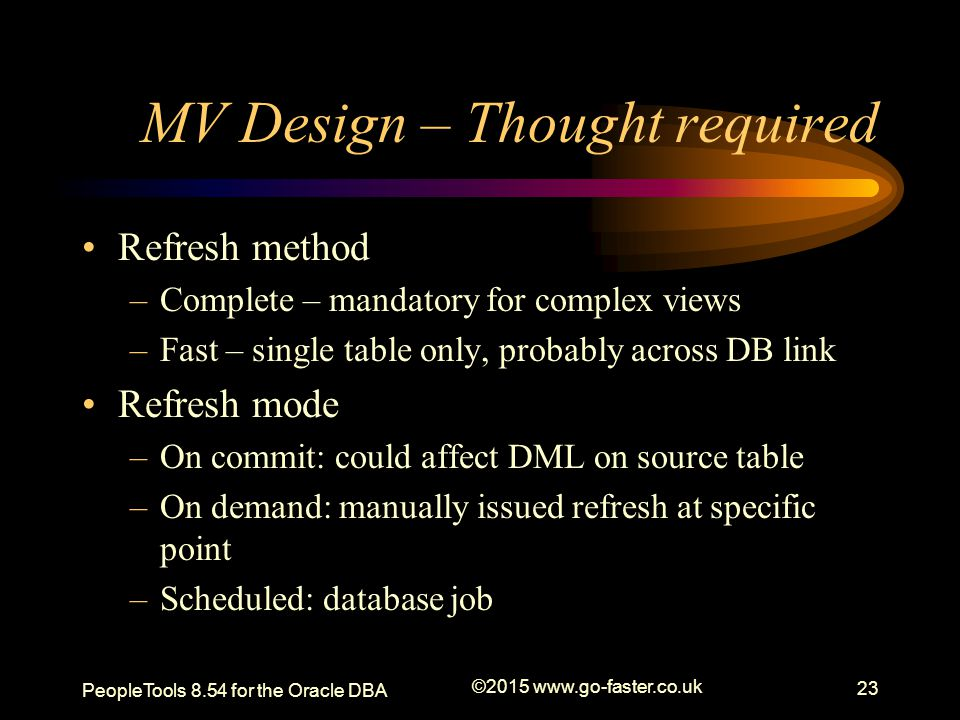 MV Design – Thought required
