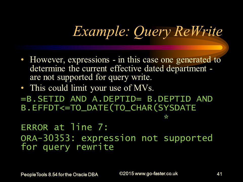 Example: Query ReWrite