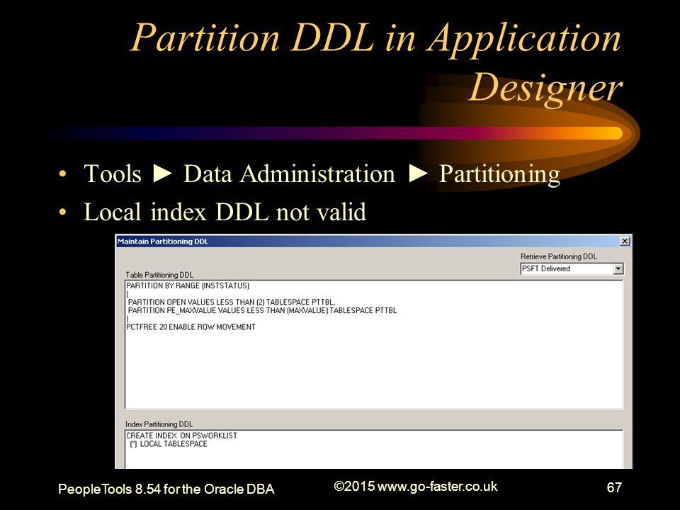 Partition DDL in Application Designer