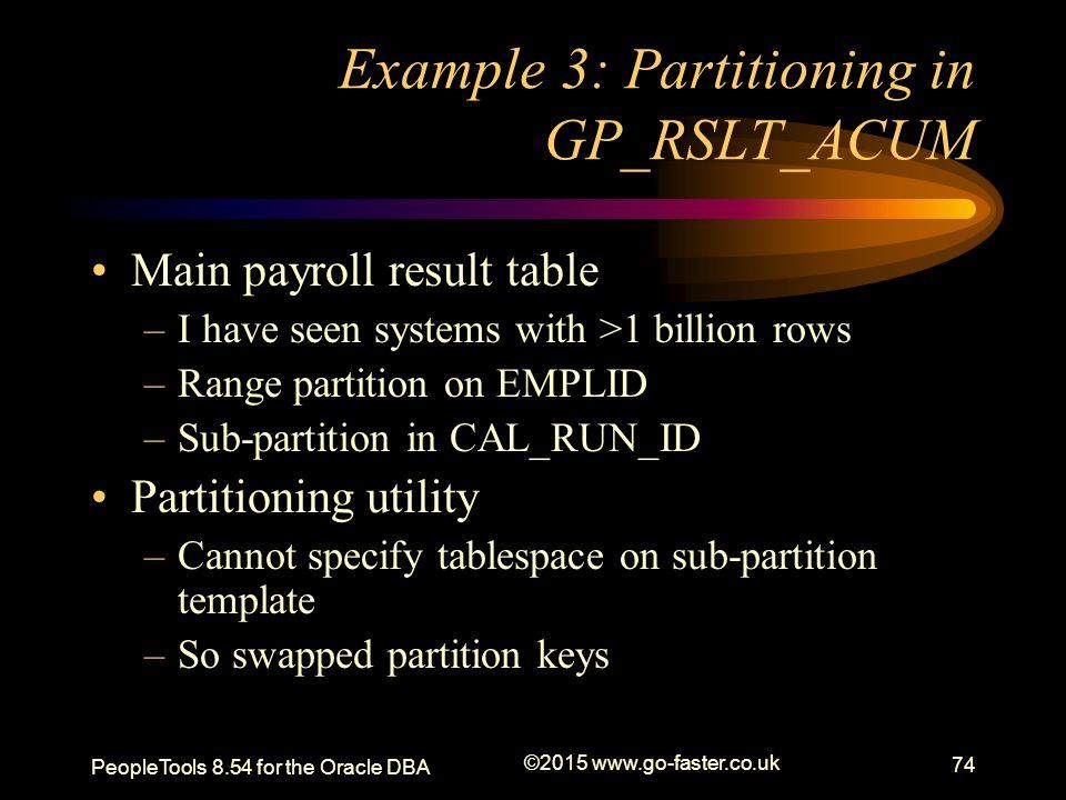 Example 3: Partitioning in GP_RSLT_ACUM