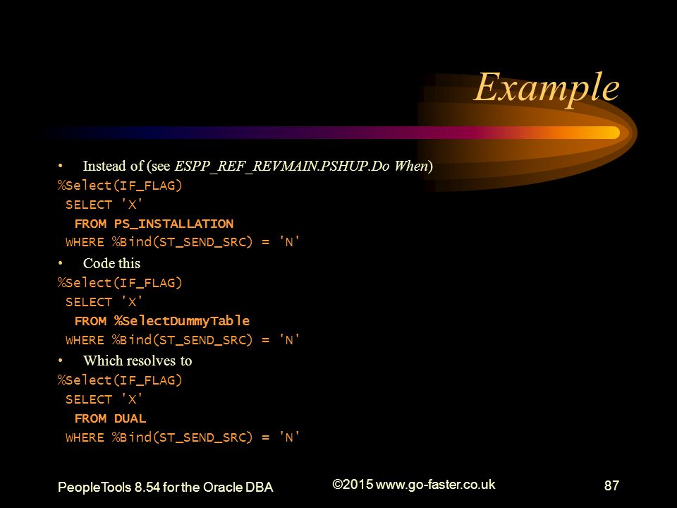 Example Instead of (see ESPP_REF_REVMAIN.PSHUP.Do When) Code this