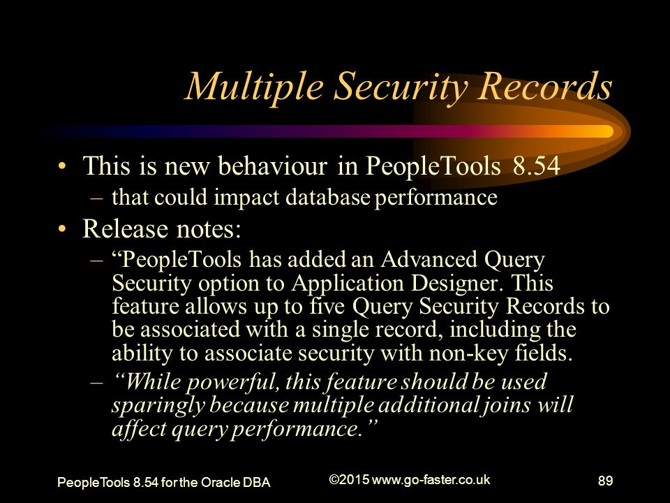 Multiple Security Records