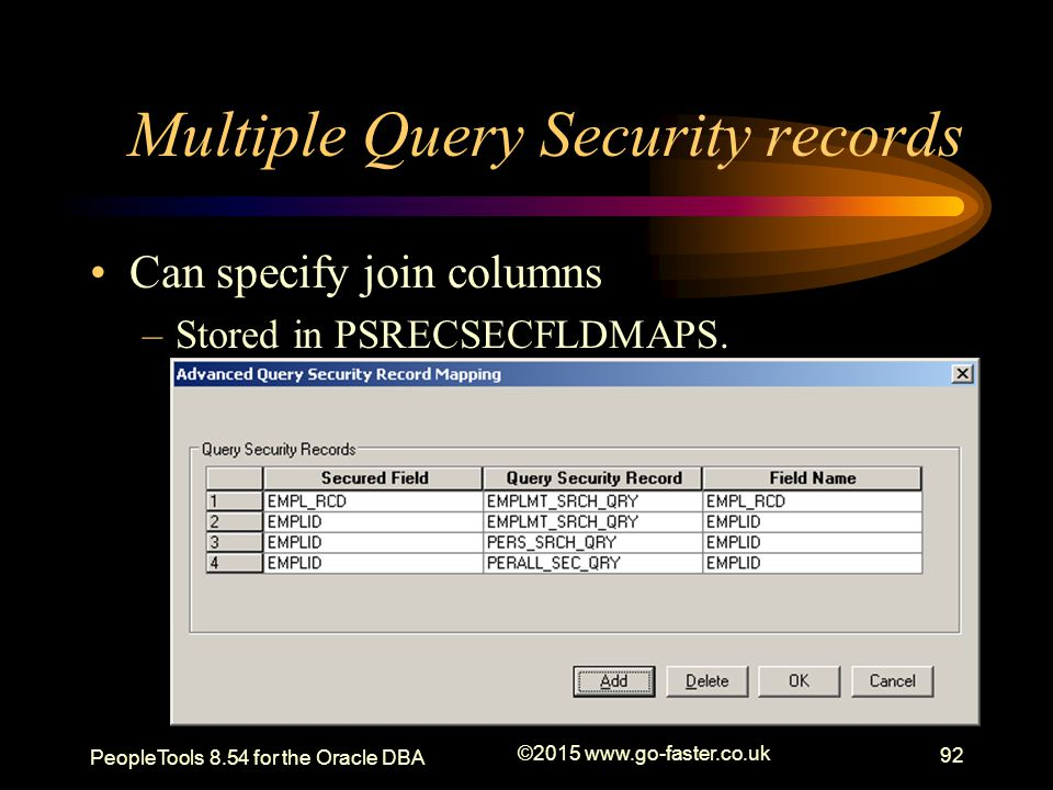 Multiple Query Security records