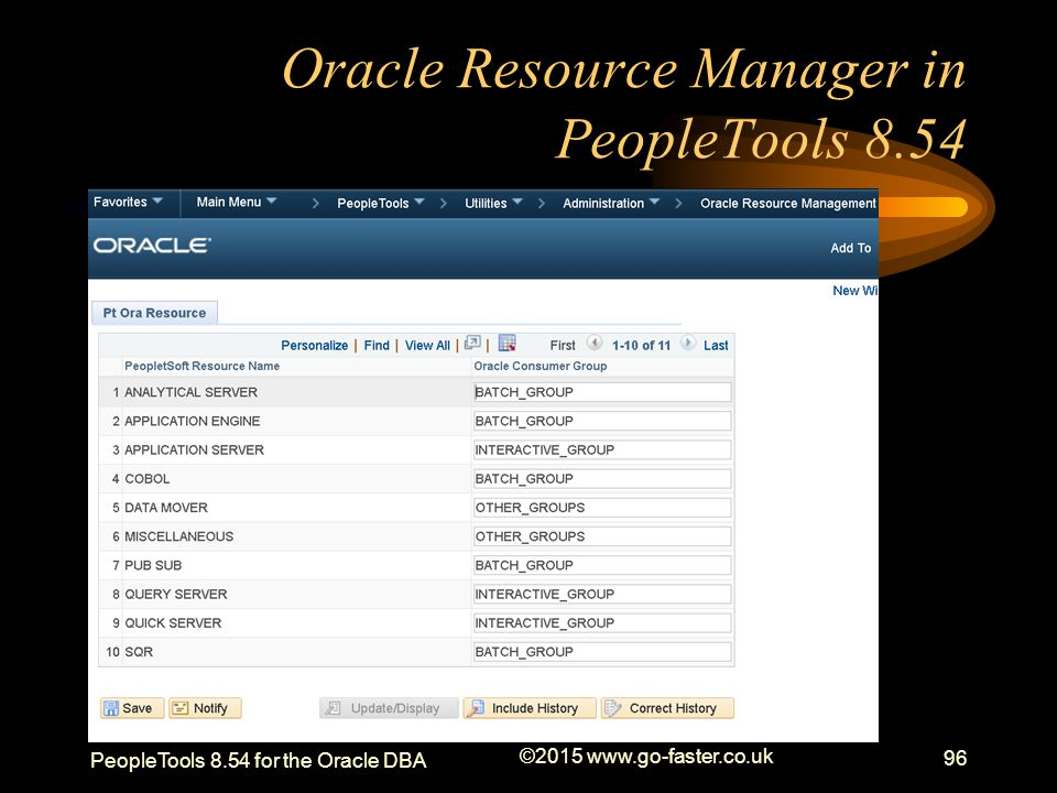Oracle Resource Manager in PeopleTools 8.54