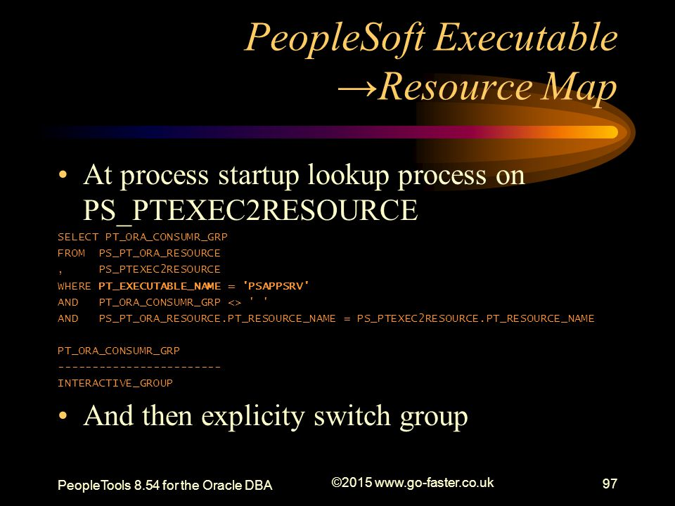 PeopleSoft Executable →Resource Map