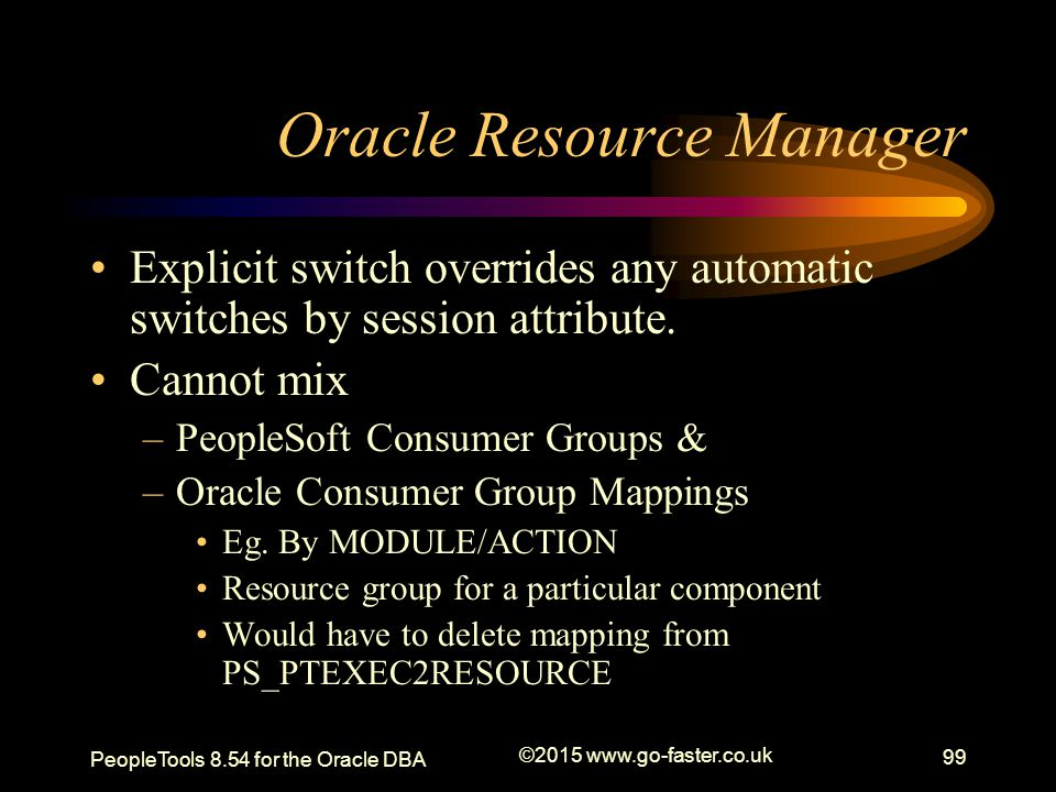 Oracle Resource Manager