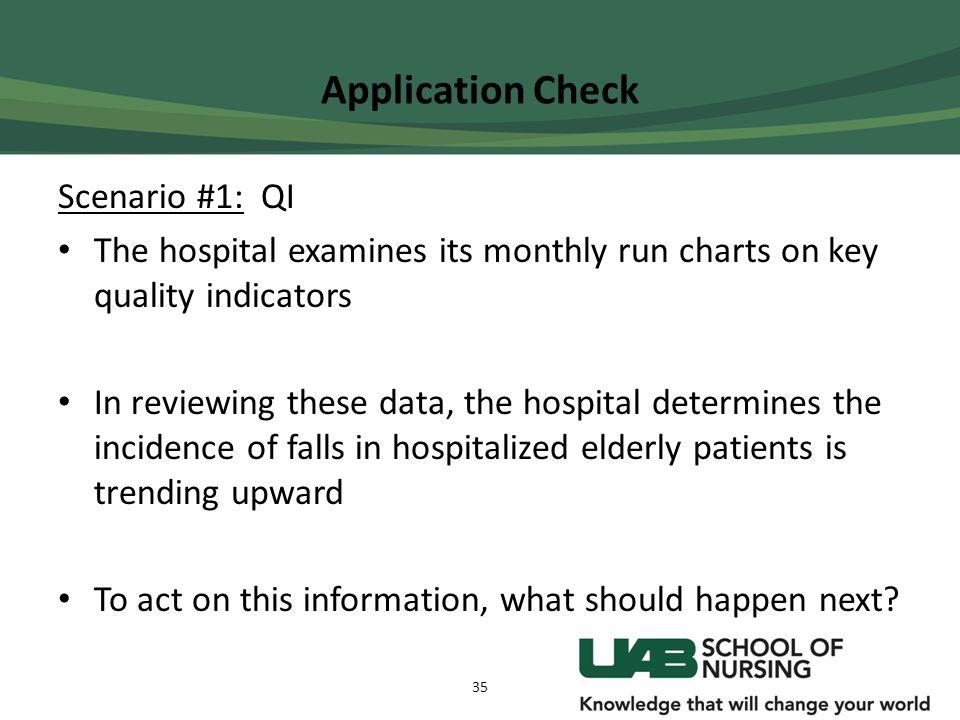 Application Check Scenario #1: QI