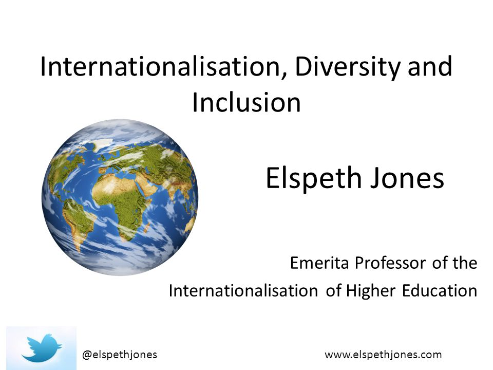 Internationalisation, Diversity and Inclusion