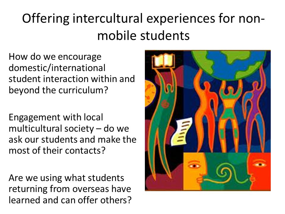 Offering intercultural experiences for non-mobile students