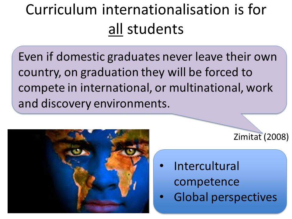 Curriculum internationalisation is for all students