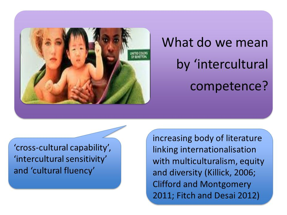 What do we mean by 'intercultural competence