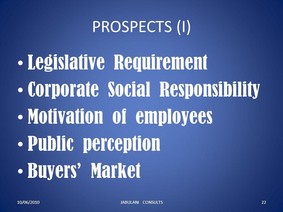 Legislative Requirement Corporate Social Responsibility