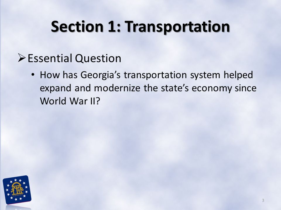 Section 1: Transportation