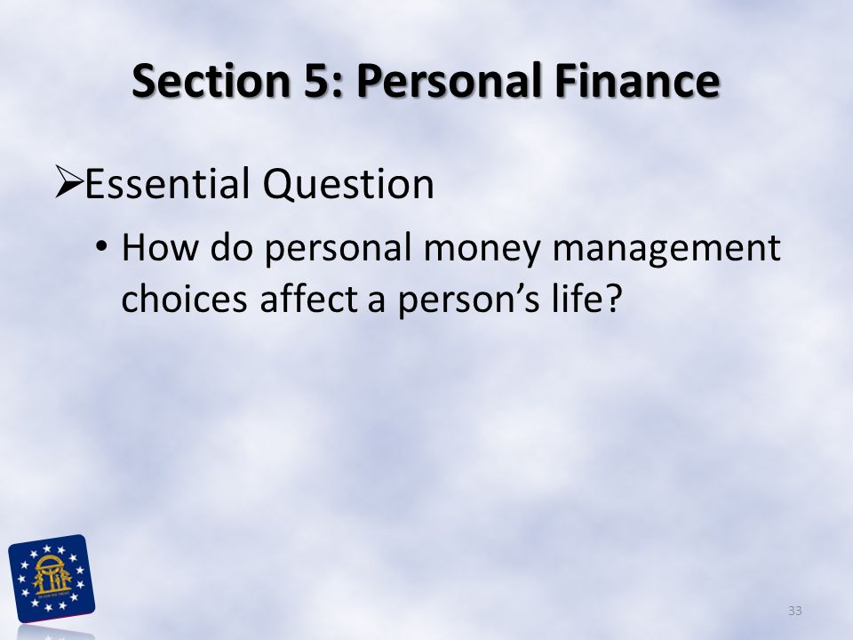 Section 5: Personal Finance