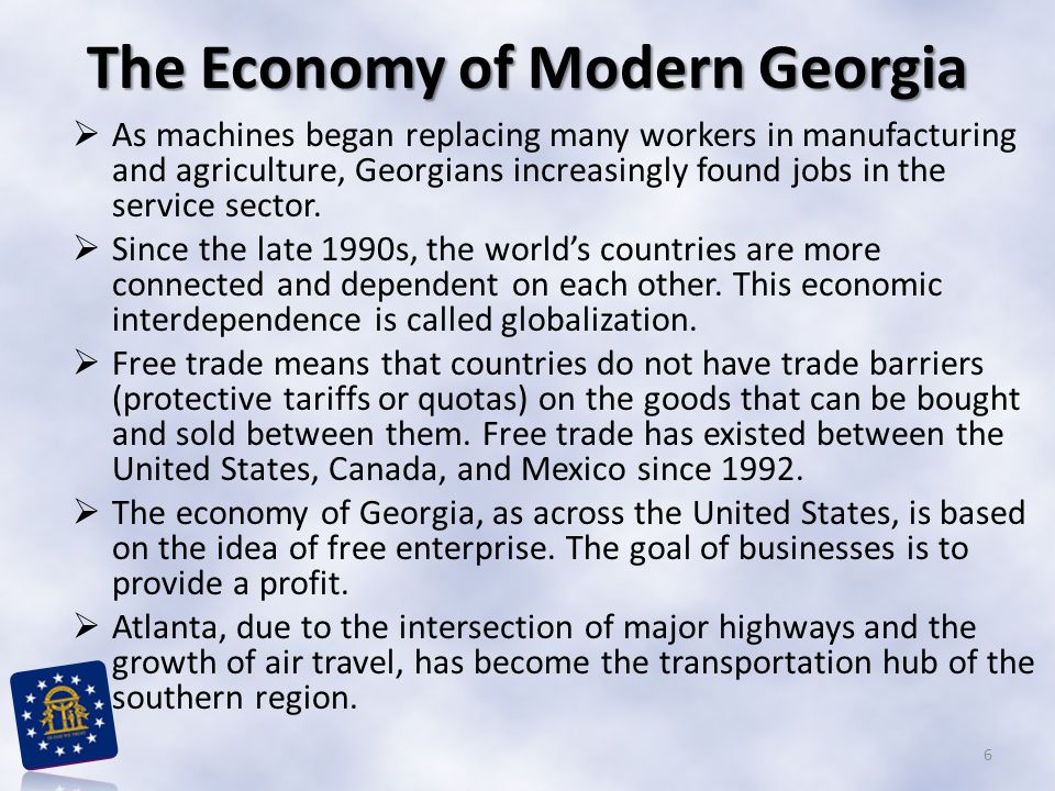 The Economy of Modern Georgia