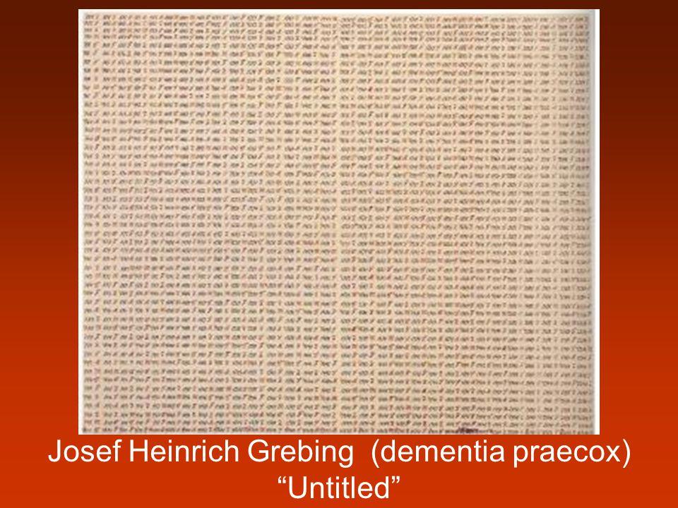 Josef Heinrich Grebing (dementia praecox) Untitled
