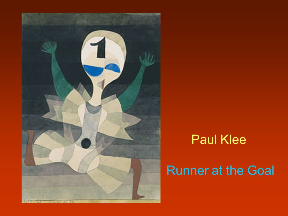 Paul Klee Runner at the Goal