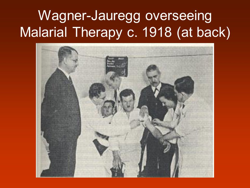 Wagner-Jauregg overseeing Malarial Therapy c. 1918 (at back)