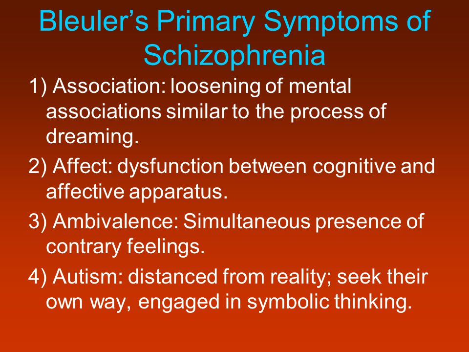 Bleuler's Primary Symptoms of Schizophrenia