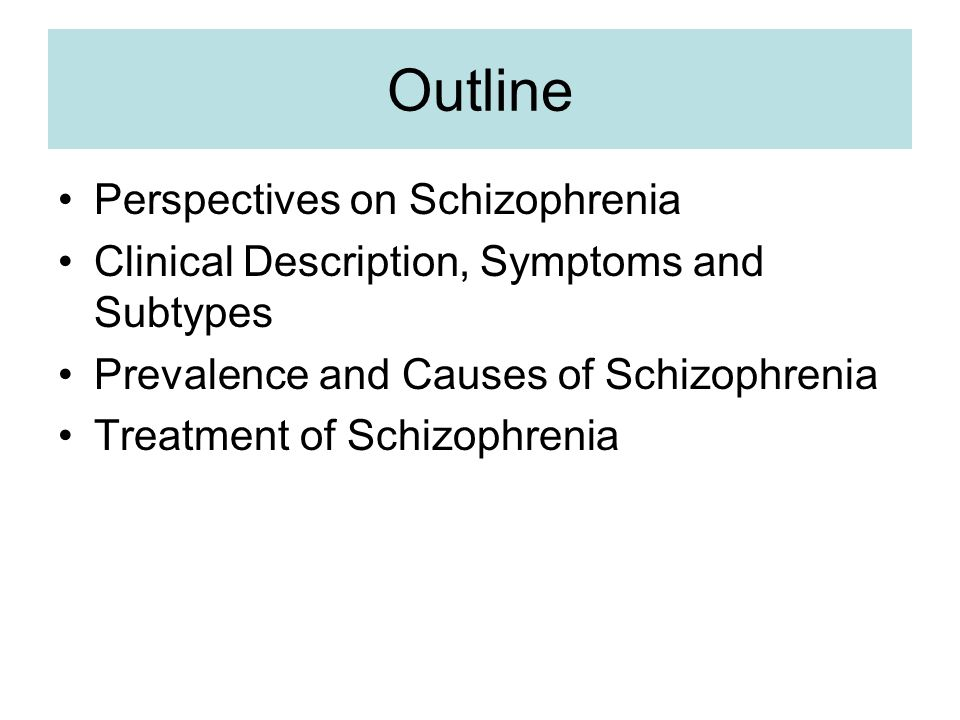 the clinical description of schizophrenia Constructing illness: how the public in eight western nations respond to a clinical description of schizophrenia.