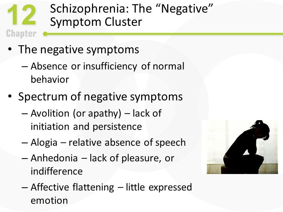 Schizophrenia: The Negative Symptom Cluster