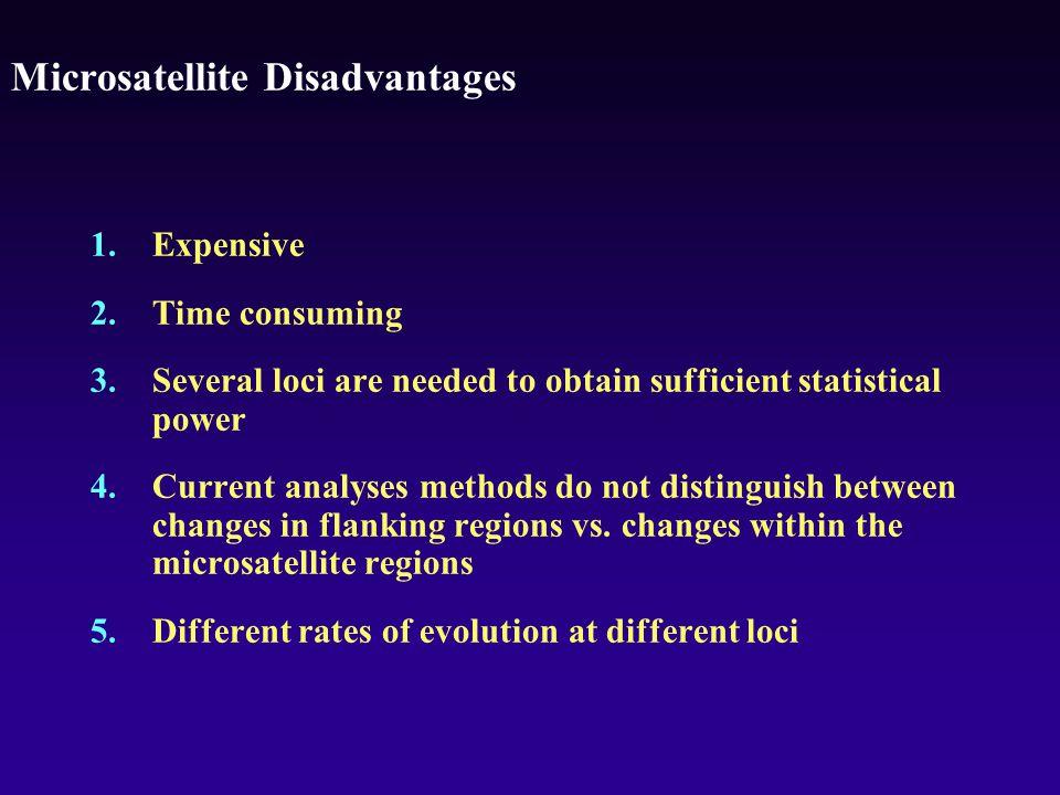 Microsatellite Disadvantages