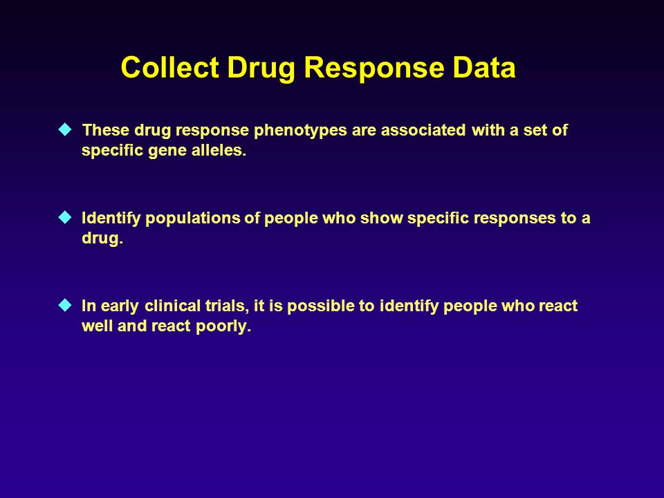 Collect Drug Response Data