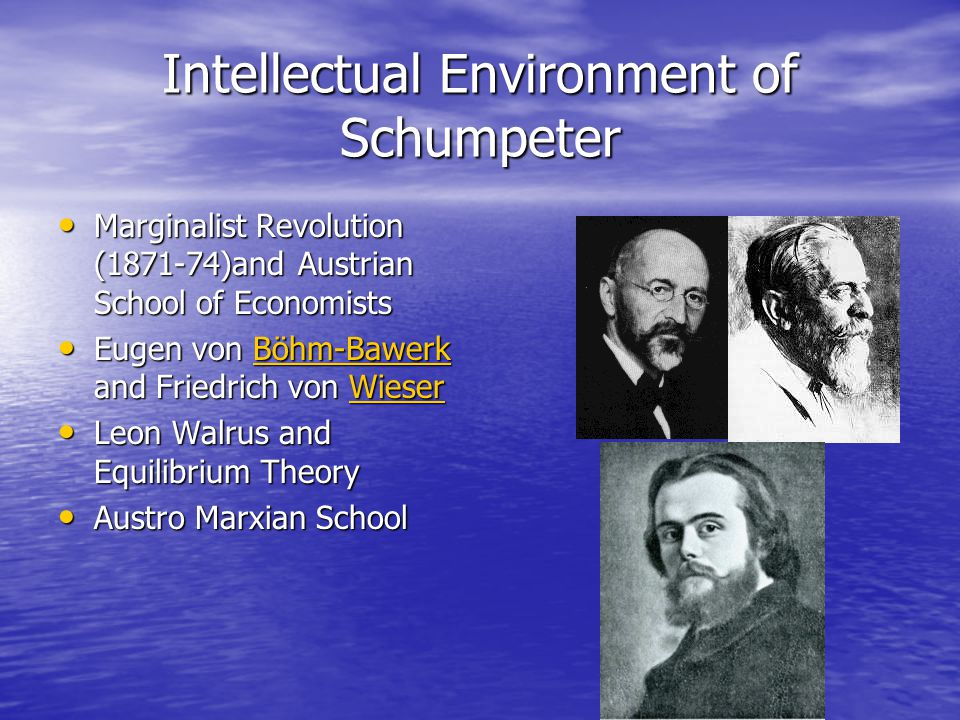 Intellectual Environment of Schumpeter