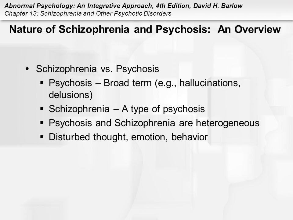 Nature of Schizophrenia and Psychosis: An Overview