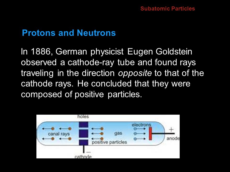 4.2 Subatomic Particles. Protons and Neutrons.