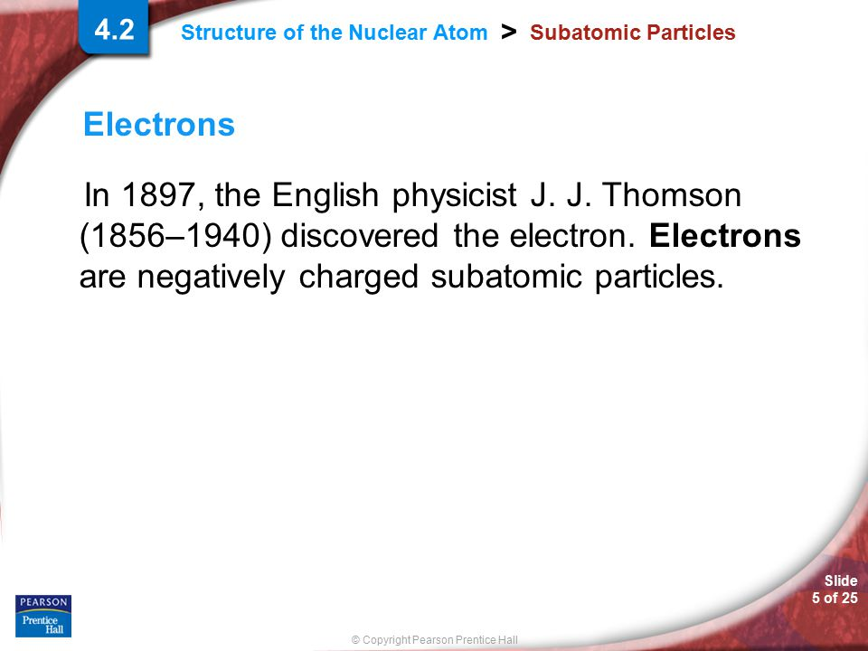 4.2 Subatomic Particles. Electrons.