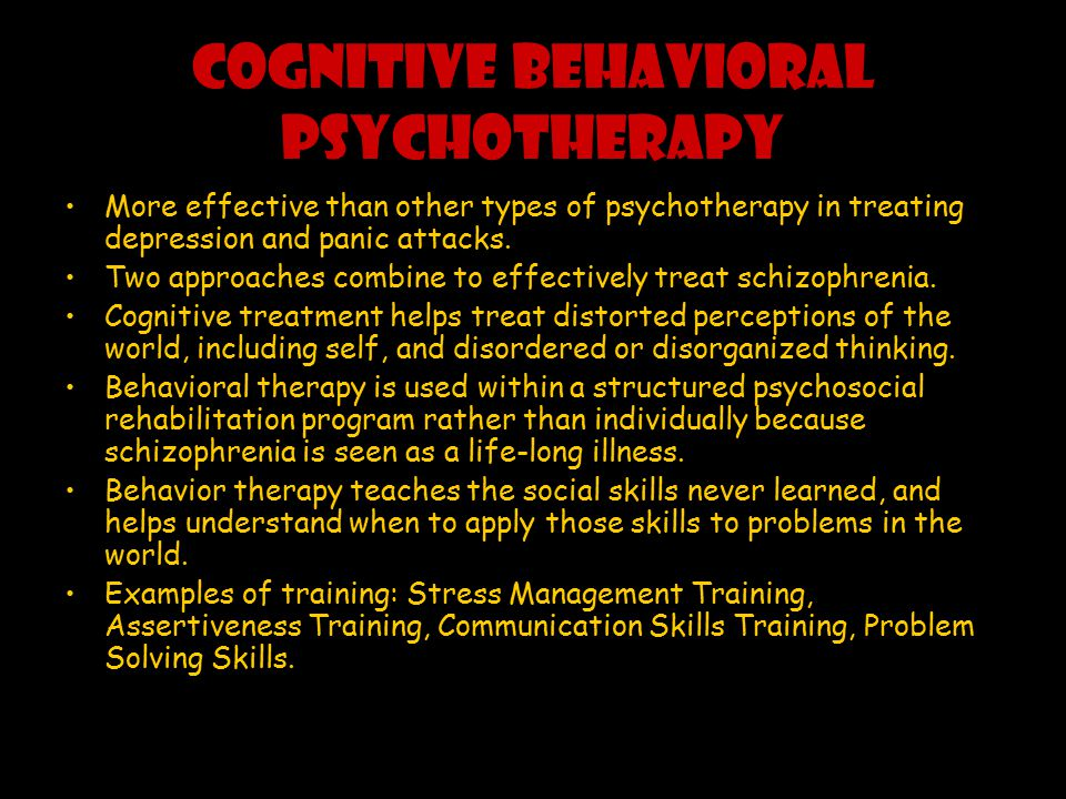 COGNITIVE BEHAVIORAL PSYCHOTHERAPY