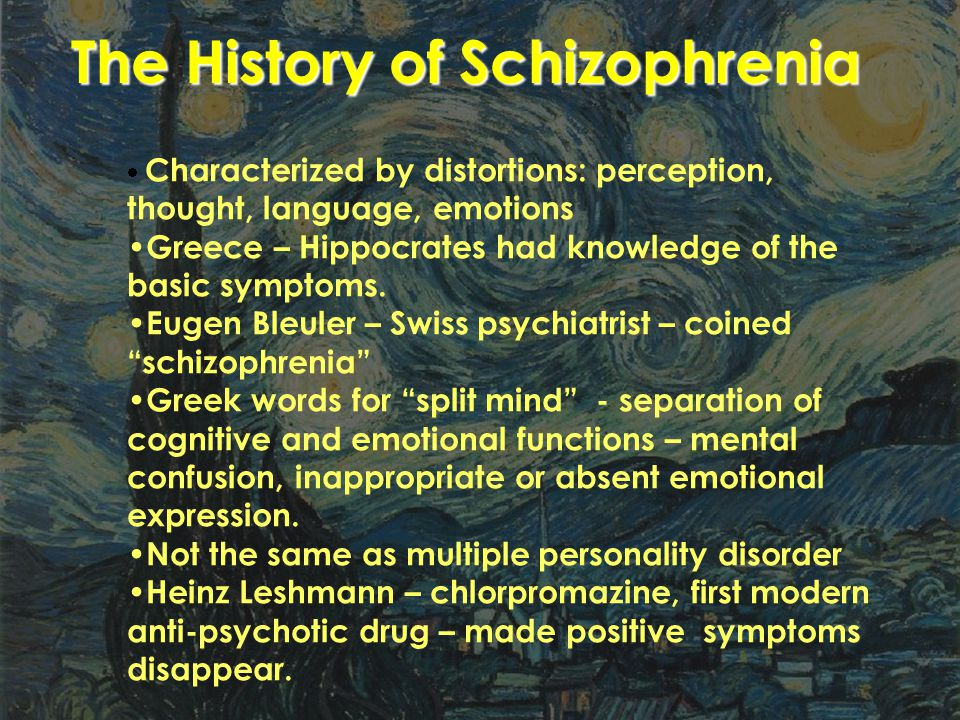 The History of Schizophrenia