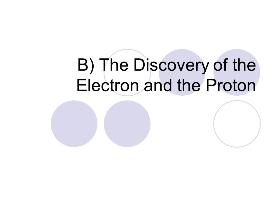 B) The Discovery of the Electron and the Proton