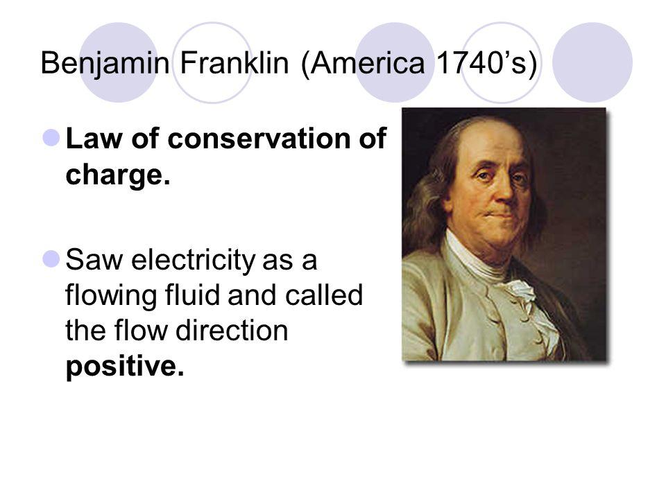 Benjamin Franklin (America 1740's)